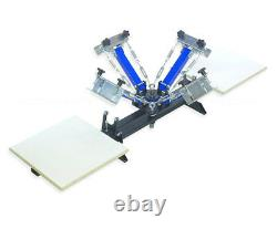 Four 4 Color 2 Station Screen Printing Press Four Machine T-SHIRT SPRINGER