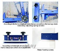 Four Color Four Station Silk Screen Printing Machine Press DIY T-Shirt Printer