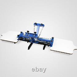 Full 4 Color 2 Station Silk Screen Printing Machine Press Flash Dryer Equipment