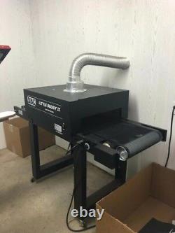 Goccopro 100 SCREEN Printer System w supplies. Flash Dryer, auto dryer, heat gun