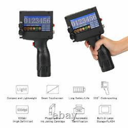 Handheld Inkjet Printer Date QR Barcode 4.3'' Touch Screen 600DPI DIY 2-12.7mm