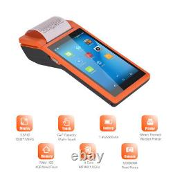 Handheld POS Receipt Android 6.0 Terminal Printer 5.5 Inch Touch Screen Wireless