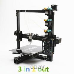 He3D Prusa I3 Large Tricolor Triple Extruder DIY 3D Printer Reprap + LCD Screen