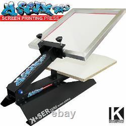 K-SER zero Screen Printing T-shirt Press / Printer Machine Textile Fabric NEW