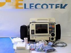 Lifepak 12 BIphasic 12 Lead SpO2 NiBP etCO2 100MM Printer EL Screen