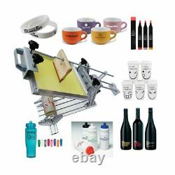 Manual Cylinder Screen Printing Machine Surface Curve Press for Pen/Cup/Bottle
