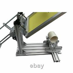Manual Cylinder Screen Printing Machine with 10 Squeegee for Pen / Cup / Mug