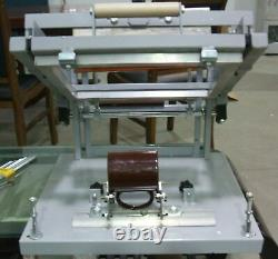 Manual screen cylinder printing machine for bottle/cup/pen surface curve press A