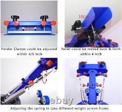 Micro Registration 6 Color 6 Station Screen Printing Machine Silk Press Printer
