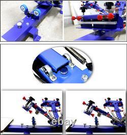 Micro Registration Screen Printing Machine 4 Color 1 Station Shirt Press Printer
