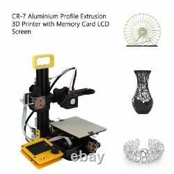 Mini Desktop 3D Printer Machine DIY Printing Kit with Memory Card LCD Screen US