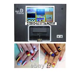 Nail printer built with computer and screen nail machine printing on 5 real nail