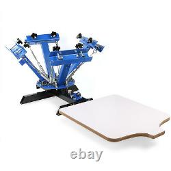 New Set 4 Color 1 Station Screen Printer Kit Machine Press Equipment Flash Dryer
