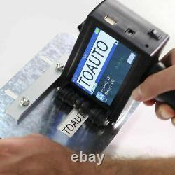 Portable Handheld Smart Date Coder Inkjet Printer Ink Label Machine 3.7 Screen