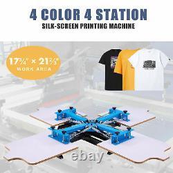 Preenex 4 Station Silk Screen Printing Machine for 4 Color Design Shirts & More