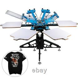 Screen Printer Screen Printing Machine 6 Color 6 Station For T-shirts
