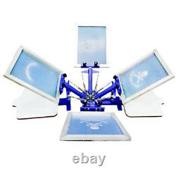 Screen Printing 4 color 2 Station Press Machine Rotary Printer Free Combination
