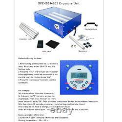 Screen Printing Exposure Unit 18x12 Plate Developing Machine 415W Led Tubes