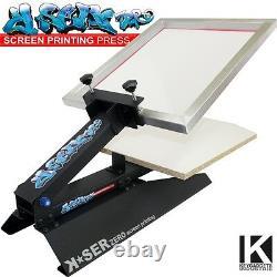 Screen Printing T-shirt press Frame Squeegee Emulsion Exposure set machine kit