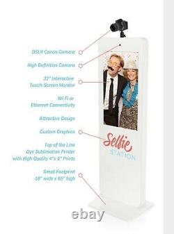 Selfie Station Complete Photo Booth System Camera, Green Screen, Printer Withextras