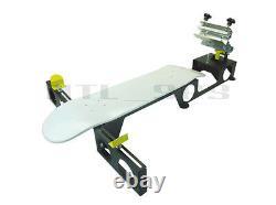 Silk Skates© Deluxe Skateboard Screen Printing Press skateboarding machine diy