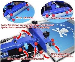 TECHTONGDA 4 Color Screen Printing Kit T-shirt Silk Printing Press Machine New