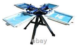 TECHTONGDA 4 Color Silk Screen Printing Machine 4 Station Press Printer Newest
