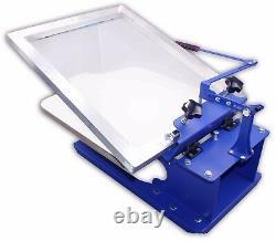 Techtongda 1 Color Screen Printing Press Kit DIY Silk Screen Printer Supply Kit