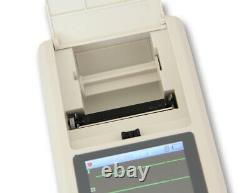 Touch screen 1 Channel 12 Lead ECG/EKG machine Electrocardiograph, software