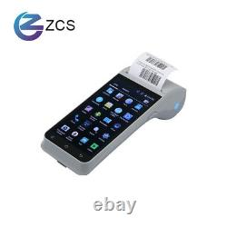 Touch screen 5.5 inch android 9 ticketing NFC android POS printer with free SDK
