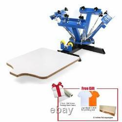 USA! 4 Color 1 Station Silk Screen Printing Press Machine Screen Pressing DIY