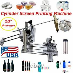 USA Cylinder Screen Printing Machine 10 Squeegee for Pen / Cup / Mug / Bottle