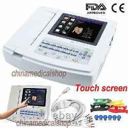 USA Digital 12-lead ECG/EKG Machine 12-channel Electrocardiograph Touch screen