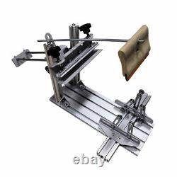 USA Manual Cylinder Screen Printing Machine+10 Squeegee for Pen / Mug / Bottle