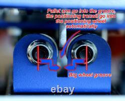 USA STOCK 4 Color 4 Station Double Wheel Silk Screen Printing Press Printer