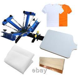 US 4 Color 1 Station Screen Printing Press Machine Silk Screening Pressing DIY