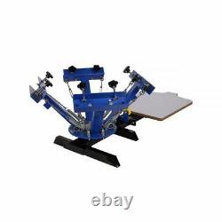 US 4 Color 1 Station T-shirt Silk Screen Printing Machine Printing Press machine