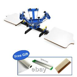 US 4 Color 2 Station Silk Screen Printing Machine 4-2 Press DIY T-Shirt Printing