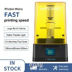 US Anycubic Photon Mono LCD Resin 3D Printer 405nm UV Light-Cure 2.8TFT Screen