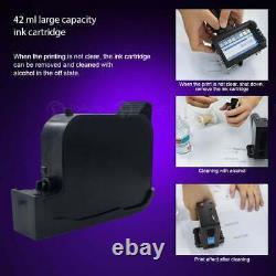 Upgraded Handheld Inkjet Printer Touch Screen Label Date LOGO Barcode QR Coding