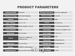 Used Longer Orange 30 3D Printer SLA 2K LCD Screen 120x68x170mm US Shipping
