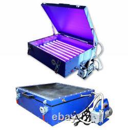 Used -Vacuum Exposure Unit Screen Printing Plate Making Machine LED light